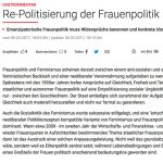 """Ausschnitt des Gastkommentars """"Re-Politisierung der Frauenpolitik"""""""