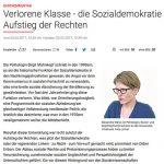 """Zeitungsausschnitt des Artikels """"Verlorene Klasse - die Sozialdemokratie und der Aufstieg der Rechten"""""""