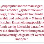 """Zeitungsausschnitt von """"Das Problem ist die Abwertung von Frauenarbeit"""""""